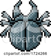 Beetle Bug Insect Pixel Art Video Game 8 Bit Icon