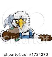 Eagle Carpenter Handyman Builder Holding Hammer