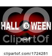 Halloween Bingo Number Eight And Text Background