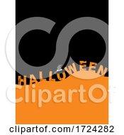 Poster, Art Print Of Halloween Blank Copy Space Orange And Black