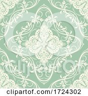 Elegant Background With Decorative Seamless Tile Pattern