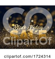 Black Friday Background Of Gold Glitter
