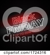 Black Friday Neon Lettering Background