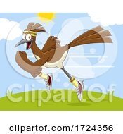 Sprinting Roadrunner Bird by Hit Toon