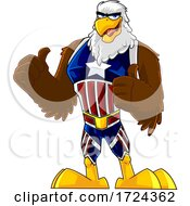 Poster, Art Print Of Bald Eagle Super Hero In A Patriotic Suit
