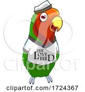 Poster, Art Print Of Love Bird Wearing A Shirt