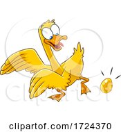 Poster, Art Print Of Golden Goose Laying An Egg