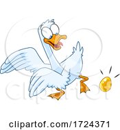 Poster, Art Print Of Goose Laying A Golden Egg