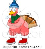 Poster, Art Print Of Shivering Bald Turkey