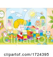 Poster, Art Print Of Boy Playing