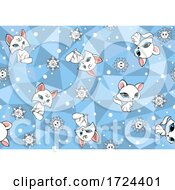 Cat And Snowflake Pattern