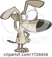 Cartoon Dog Cupping His Ear