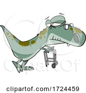 Cartoon Old Grandpa Saurus