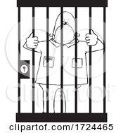 10/01/2020 - Cartoon Prisoner Wearing A Mask