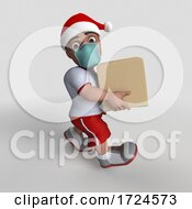 3D Sports Man Wearing A Mask On A White Background