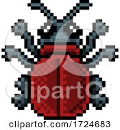 Bug Beetle Insect Pixel Art Video Game 8 Bit Icon