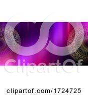 Banner Design With Decorative Gold Mandalas