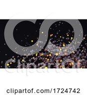 3d Cloud Of Black And Orange Glowing Orange Spheres Dispersing In Space