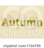 10/08/2020 - Autumn Decorative Text Over Falling Leaves Background