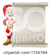 Santa Claus Christmas Cartoon Peeking Background