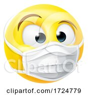 Poster, Art Print Of Emoticon Emoji Ppe Medical Mask Face Icon