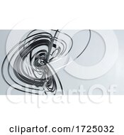 3d Abstract Complex Wire Shape Against Grey Background
