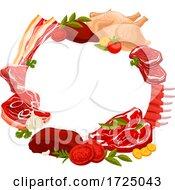 Poster, Art Print Of Butcher Meat Food Design