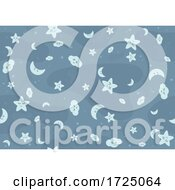 Poster, Art Print Of Seamless Moon Cloud Star Pattern