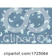 Seamless Moon Cloud Star Pattern
