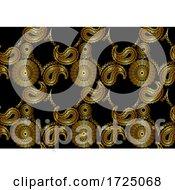 Seamless Gold Mandala Paisley Pattern