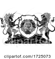 Coat Of Arms Unicorn Lion Crest Shield Family Seal