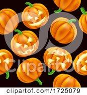 Halloween Pumpkin Pattern Seamless Background