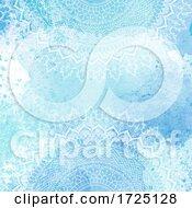 Mandala Design On Watercolour Texture