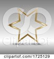 Metallic Gold Star Background
