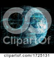 3D Global Technology And Network Communications Background