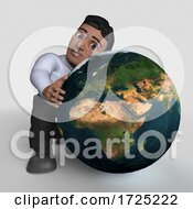 Poster, Art Print Of 3d Hispanic Business Man On A Shaded Background