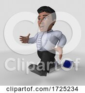 10/14/2020 - 3d Hispanic Business Man On A Shaded Background
