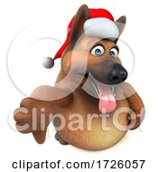10/21/2020 - 3d German Shepherd Dog On A White Background