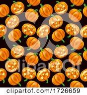 Pumpkin Pattern Halloween Seamless Background