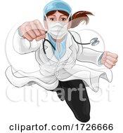 Doctor Woman Super Hero Medical Concept