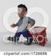 3d Casual Hispanic Man On A Shaded Background