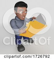 3d Casual Hispanic Man, on a Shaded Background by KJ Pargeter #COLLC1726792-0055