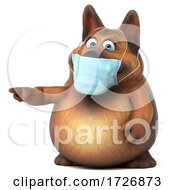 3d German Shepherd Dog Wearing a Mask, on a White Background by Julos #COLLC1726873-0108