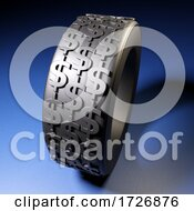 3d Vehicles Rubber Tyre With US Dollar Symbols Embedded In Tread Grip