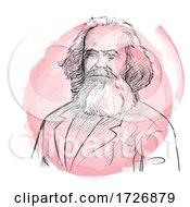 Hand Drawn Portrait Of Karl Marx