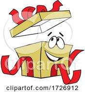 Cartoon Christmas Present Character