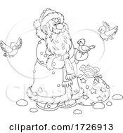 Santa With Birds