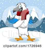 Winter Hawk In The Snow