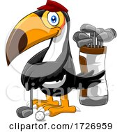 Golfing Toucan by Hit Toon #COLLC1726959-0037