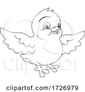 Easter Chick Coloring Book Black And White Cartoon